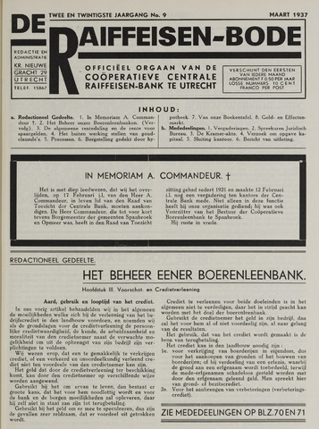blad 'De Raiffeisen-bode' (CCRB) 1937-03-01