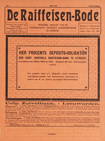 blad 'De Raiffeisen-bode' (CCRB) 1917-03-01