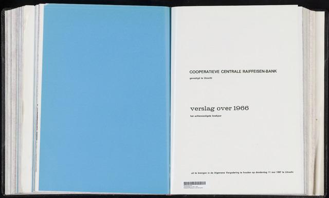 Jaarverslagen Coöperatieve Centrale Raiffeisen-Bank 1966