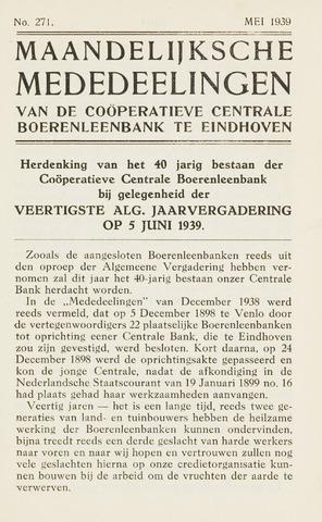blad 'Maandelijkse Mededelingen' (CCB) 1939-05-01