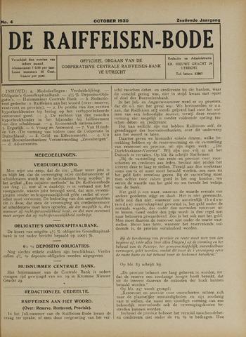 blad 'De Raiffeisen-bode' (CCRB) 1930-10-01