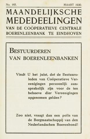 blad 'Maandelijkse Mededelingen' (CCB) 1930-03-01