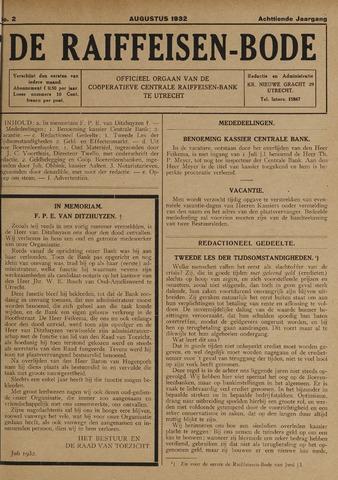 blad 'De Raiffeisen-bode' (CCRB) 1932-08-01