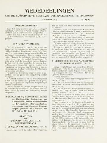 blad 'Mededeelingen' (CCB) 1914-11-01
