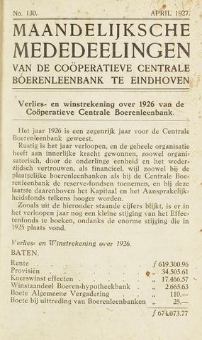 blad 'Maandelijkse Mededelingen' (CCB) 1927-04-01