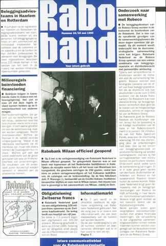 blad 'Raboband' 1990-05-18