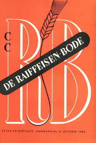 blad 'De Raiffeisen-bode' (CCRB) 1955-10-01