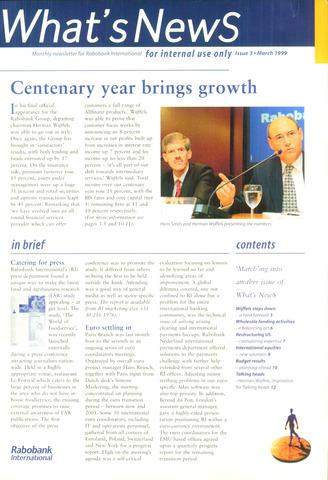 blad 'What's news' (EN) 1999-03-01