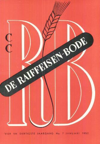 blad 'De Raiffeisen-bode' (CCRB) 1952