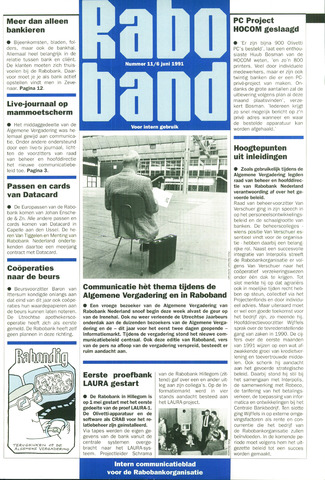 blad 'Raboband' 1991-06-06