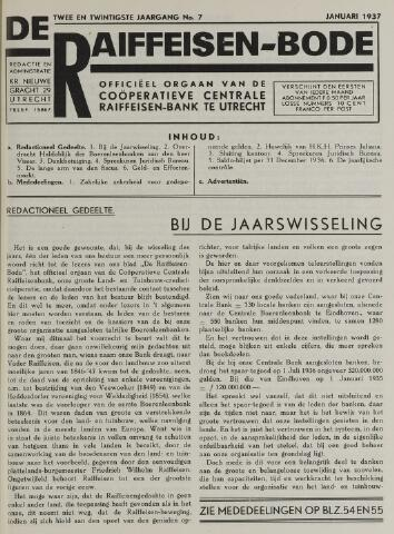 blad 'De Raiffeisen-bode' (CCRB) 1937-01-01