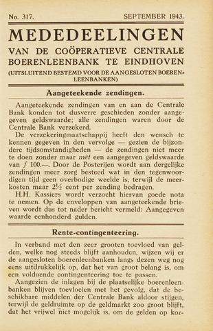 blad 'Maandelijkse Mededelingen' (CCB) 1943-09-01