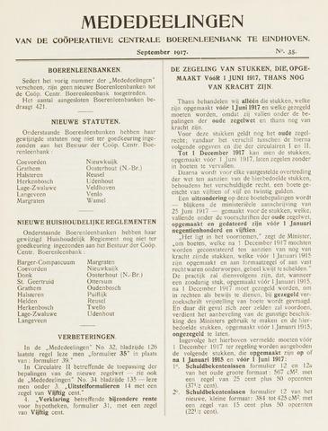 blad 'Mededeelingen' (CCB) 1917-09-01