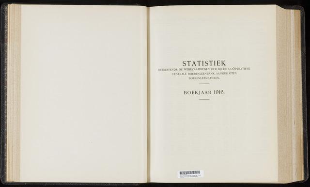 Statistiek aangesloten banken CCB 1916-12-31