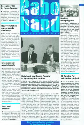 blad 'Raboband International' (EN) 1993-07-26