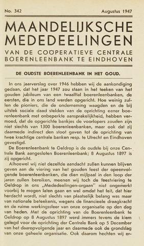 blad 'Maandelijkse Mededelingen' (CCB) 1947-08-01