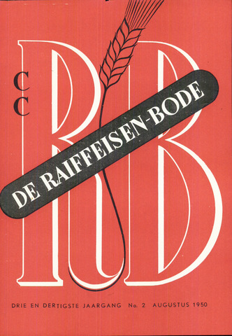 blad 'De Raiffeisen-bode' (CCRB) 1950-08-01