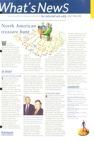 blad 'What's news' (EN) 1998-05-01