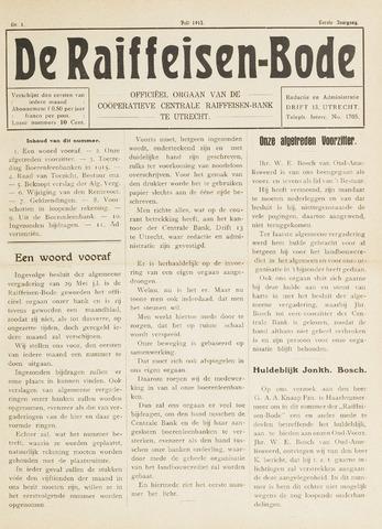 blad 'De Raiffeisen-bode' (CCRB) 1915-07-01