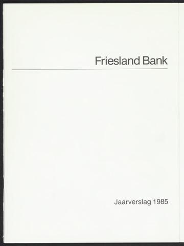Jaarverslagen Friesland Bank 1985