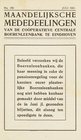 blad 'Maandelijkse Mededelingen' (CCB) 1931-07-01