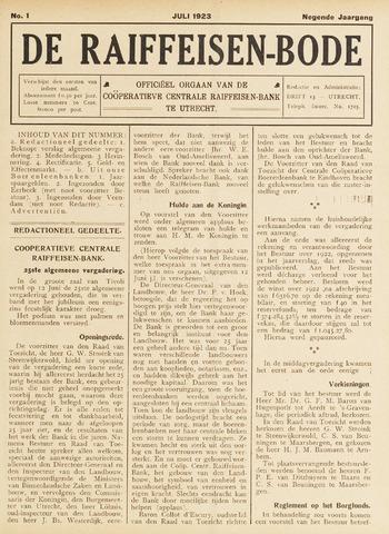 blad 'De Raiffeisen-bode' (CCRB) 1923-07-01