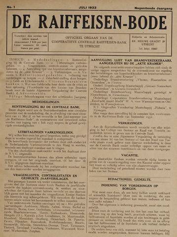 blad 'De Raiffeisen-bode' (CCRB) 1933-07-01