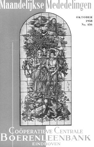 blad 'Maandelijkse Mededelingen' (CCB) 1958-10-01