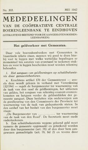 blad 'Maandelijkse Mededelingen' (CCB) 1942-05-01
