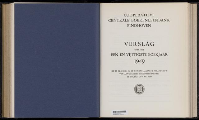 Jaarverslagen Coöperatieve Centrale Boerenleenbank 1949-12-31