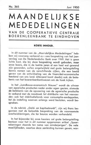 blad 'Maandelijkse Mededelingen' (CCB) 1950-06-01