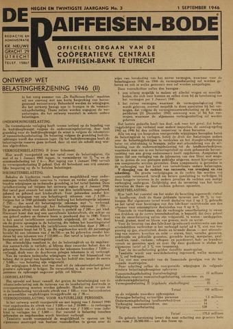blad 'De Raiffeisen-bode' (CCRB) 1946-09-01