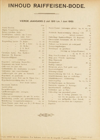 blad 'De Raiffeisen-bode' (CCRB) 1918-07-01