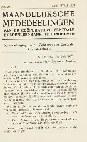 blad 'Maandelijkse Mededelingen' (CCB) 1937-08-01