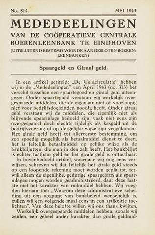 blad 'Maandelijkse Mededelingen' (CCB) 1943-05-01