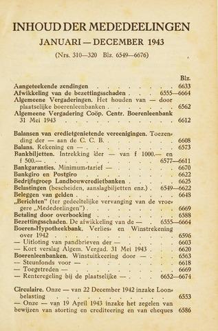 blad 'Maandelijkse Mededelingen' (CCB) 1943