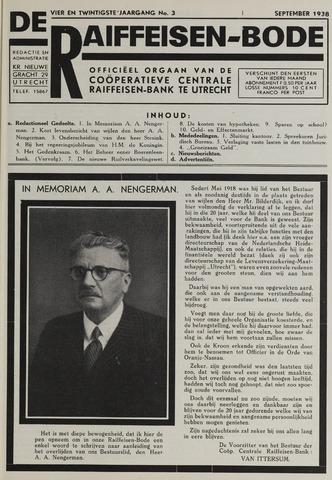 blad 'De Raiffeisen-bode' (CCRB) 1938-09-01