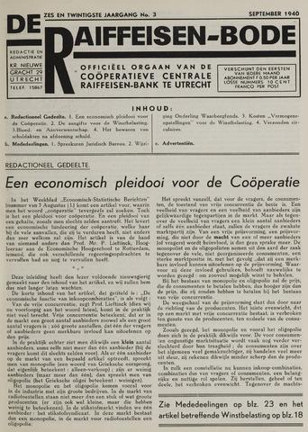 blad 'De Raiffeisen-bode' (CCRB) 1940-09-01