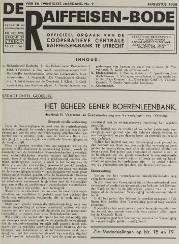 blad 'De Raiffeisen-bode' (CCRB) 1938-08-01
