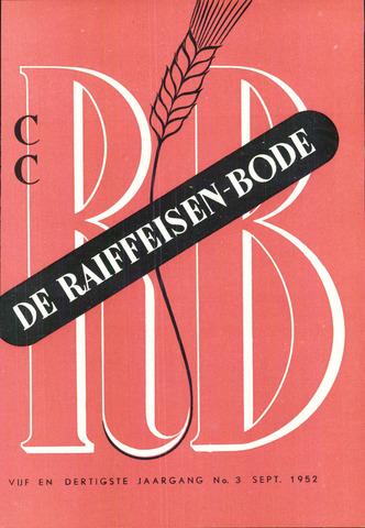 blad 'De Raiffeisen-bode' (CCRB) 1952-09-01