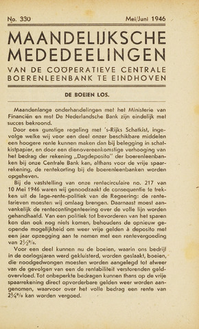 blad 'Maandelijkse Mededelingen' (CCB) 1946-05-01