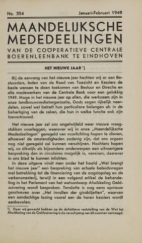 blad 'Maandelijkse Mededelingen' (CCB) 1949