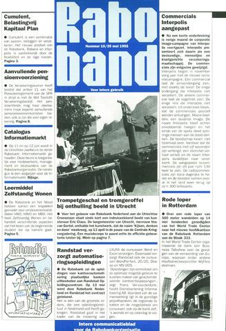 blad 'Raboband' 1992-05-25