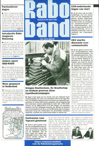blad 'Raboband' 1991-03-25