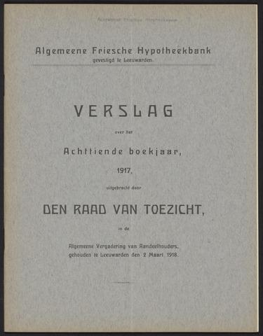 Jaarverslagen Algemeene Friesche Hypotheekbank 1917