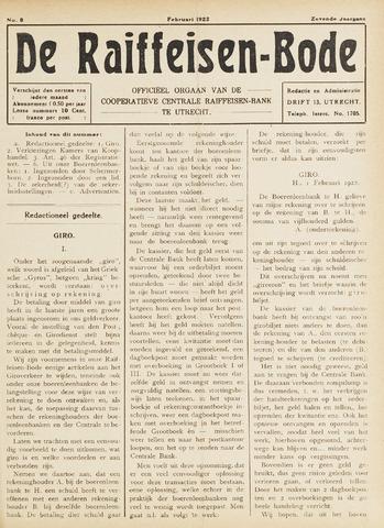 blad 'De Raiffeisen-bode' (CCRB) 1922-02-01