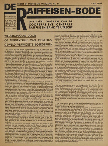 blad 'De Raiffeisen-bode' (CCRB) 1947-05-01