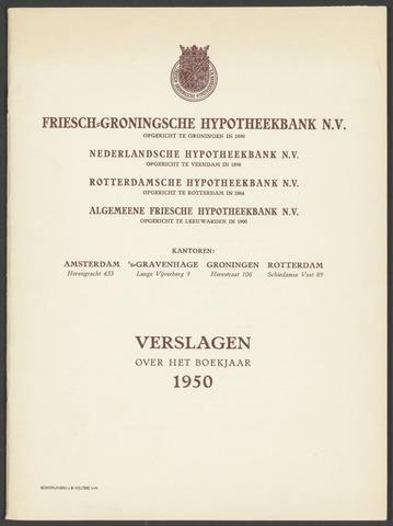 Jaarverslagen Friesch-Groningsche Hypotheekbank / FGH Bank 1950