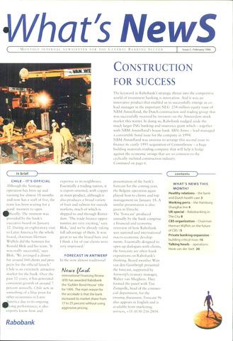 blad 'What's news' (EN) 1996-02-01