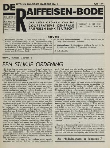 blad 'De Raiffeisen-bode' (CCRB) 1941-07-01